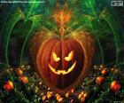 Citrouille d'Halloween typique