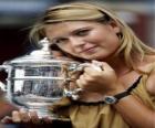 Maria Sharapova avec un trophées