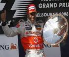 Lewis Hamilton dans le pódium