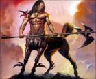 Centaure armé - Créature avec le corps e la têtehumain et le corps du cheval