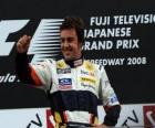 Fernando Alonso dans le pódium