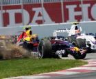 Mark Webber pilotant sa F1
