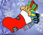 Chaussette de Noël avec et des cadeaux