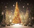 Arbre de Noël or