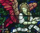Vitrail avec un ange