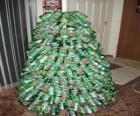 Arbre de Noël à partir de canettes de soda