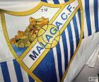 Le drapeau Malaga C.F est bleu et blanc