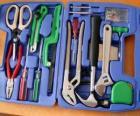 Caisse d'outils ouverte