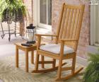 Chaise a bascule en bois