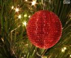 Boule de Noël brillant