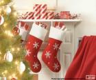 Chaussettes Noël cheminée