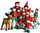 Famille de elfes avec son renne