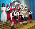 Les enfants chantaient des chants de Noël