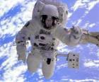 Astronaute mission dans l'espace