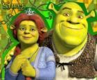 Shrek et Fiona rendus et très heureux