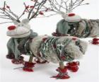 Pretty poupées de Noël rennes
