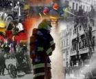Plusieurs photos de pompiers