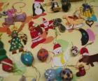 Variété des ornements de Noël