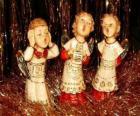 Anges chantant chants de Noël