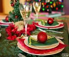 Table de Noël décoré