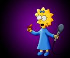 La petite Maggie prêt à chanter