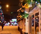 Rue décorée Noël