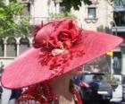 Pamela rouge, sont très larges bords des chapeaux utilisés par les femmes