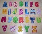 Lettres majuscules, alphabet