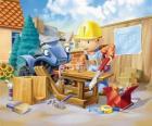 Bob a travaillé comme charpentier