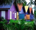 Les maisons les couleurs, les Bahamas