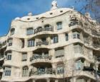 Œuvres d'Antoni Gaudí. La Pedrera ou la Casa Mila de Gaudí, Barcelone, Espagne.