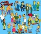 Plusieurs personnages de The Simpsons