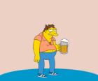 Barney Gumble client habituel du bar de Moe