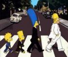 La famille Simpson dans la rue, très élégant