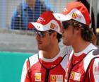 Felipe Massa, Fernando Alonso - Ferrari - Sepang 2010