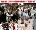 Champion Sevilla Copa del Rey 2009-2010