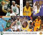 2009-10 NBA final, réservations, Rasheed Wallace (Celtics) vs Lamar Odom (Lakers)