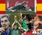 Meilleur gardien Iker Casillas (Gant d'or) de la Coupe du Monde Afrique du Sud 2010