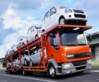 Transport par camion de voitures