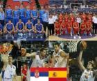 Serbie - Espagne, un quart à la fin, la FIBA World Championship 2010 en Turquie
