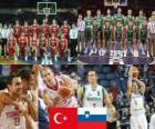 Turquie - Slovénie, trimestre à fin 2010 Championnats du Monde FIBA en Turquie