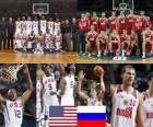 États-Unis - la Russie, un quart à la fin de 2010 Championnats du Monde FIBA en Turquie