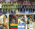 Lituanie - Argentine, quart à la fin de 2010 Championnats du Monde FIBA en Turquie