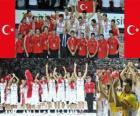 Turquie 2e place du Championnat du Monde FIBA 2010 en Turquie