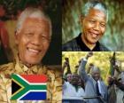 Nelson Mandela dans son pays connu sous le nom Madiba, a été le premier président démocratiquement élu d'Afrique du Sud au suffrage universel.