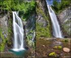 la cascade du Saut deth Pish, entre 25 et 30 mètres de haut, la Val d'Aran, Catalogne, Espagne.