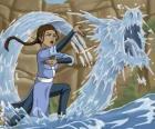 Katara est une puissant maître de l'eau qui accompagne Aang et son frère Sokka