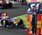 Sebastian Vettel fête sa victoire dans le Grand Prix du Japon (2010)