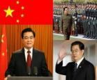 Hu Jintao secrétaire général du Parti communiste chinois et président de la République populaire de Chine