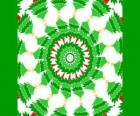 Mandala avec décorations de Noël